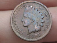 1895 INDIAN HEAD CENT PENNY, VG/FINE DETAILS, TONED