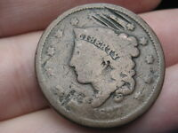 1837 MATRON HEAD LARGE CENT PENNY- SMALL LETTERS
