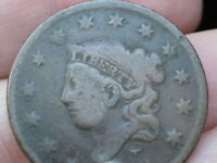 1833 MATRON HEAD LARGE CENT PENNY- VG DETAILS, SLIGHTLY ROTATED REVERSE ERROR