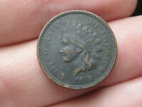 1873 INDIAN HEAD CENT PENNY- CLOSED 3, VF DETAILS