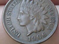 1906 INDIAN HEAD CENT PENNY, EXTRA FINE  DETAILS, DIAMONDS