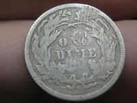 1860 O SEATED LIBERTY SILVER DIME- FINE DETAILS,   KEY DATE