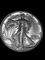 1941-S WALKING LIBERTY HALF ABOUT UNCIRCULATED AU  ORIGINAL COIN