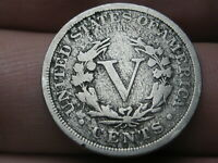 1890 LIBERTY HEAD V NICKEL 5 CENT PIECE, VG/FINE DETAILS