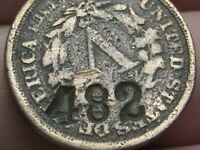 1883 LIBERTY HEAD V NICKEL- NO CENTS, COPPER DIPPED? COUNTERSTAMPED