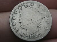 1883 LIBERTY HEAD V NICKEL- WITH CENTS- GOOD DETAILS, FULL DATE
