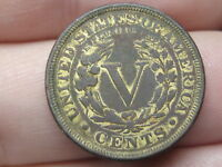 1883 LIBERTY HEAD V NICKEL 5 CENT PIECE- WITH CENTS, VF DETAILS, GOLD PLATED?