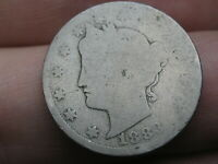 1883 LIBERTY HEAD V NICKEL 5 CENT PIECE- WITH CENTS