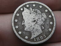 1883 LIBERTY HEAD V NICKEL- WITH CENTS, FINE DETAILS, FULL RIMS