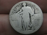 DATELESS SILVER STANDING LIBERTY QUARTER, TYPE 1 VARIETY MINTED IN 1916 AND 1917