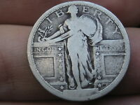 1917 P SILVER STANDING LIBERTY QUARTER, TYPE 1, PARTIAL DATE