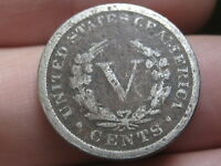 1889 LIBERTY HEAD V NICKEL 5 CENT PIECE- GOOD DETAILS