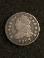 1823 CAPPED BUST SILVER DIME COIN VG BETTER  DATE