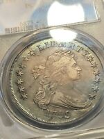 1799 DRAPED BUST SILVER DOLLAR PCGS EXTRA FINE 40 DUAL SIDED COLORFUL TONING REDUCED