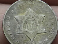 1851-O THREE 3 CENT SILVER TRIME- VF OBVERSE DETAILS