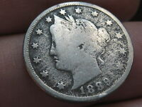 1889 LIBERTY HEAD V NICKEL- VG/FINE DETAILS, FULL DATE