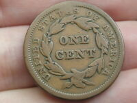 1841 BRAIDED HAIR LARGE CENT PENNY, SMALL DATE, FINE DETAILS