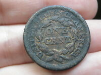 1853 BRAIDED HAIR LARGE CENT PENNY- FINE DETAILS