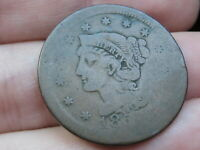 1850-1857 BRAIDED HAIR LARGE CENT PENNY