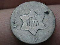 1851 THREE 3 CENT SILVER TRIME- OLD TYPE COIN