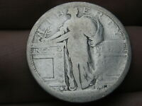 1917 S SILVER STANDING LIBERTY QUARTER, TYPE 1,