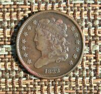 1832 HALF CENT  SOLID EXTRA FINE
