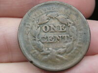 1843-1857 BRAIDED HAIR LARGE CENT PENNY