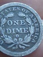 1843-O SEATED LIBERTY DIME- VG/FINE DETAILS-  KEY DATE