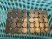 COMPLETE ROLL/LOT OF 40 SHIELD NICKELS- 1866-1883