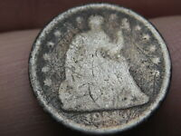 1840-1859 SEATED LIBERTY HALF DIME- WITH DRAPERY
