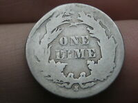 1887 S SEATED LIBERTY SILVER DIME- GOOD DETAILS