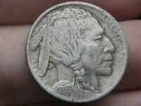 1913 P BUFFALO NICKEL 5 CENT PIECE- TYPE 1 T1 EXTRA FINE  DETAILS, NEARLY FULL HORN