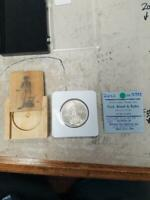 LEXINGTON CONCORD COMMEMORATIVE HALF WITH BOX   1925 AND OLD AUCTION CERT