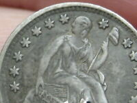 1857 P SEATED LIBERTY HALF DIME- VF/EXTRA FINE  DETAILS
