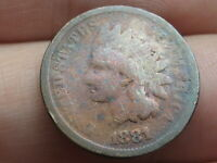 1881 INDIAN HEAD CENT PENNY- GOOD DETAILS, TONED