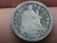 1854 O SEATED LIBERTY HALF DIME WITH ARROWS