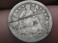 1853 SEATED LIBERTY HALF DIME -NO ARROWS-   KEY DATE