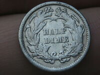 1871 P SEATED LIBERTY HALF DIME- FINE/VF DETAILS