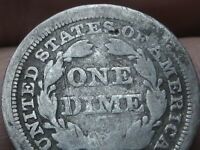 1853 O SEATED LIBERTY SILVER DIME- WITH ARROWS