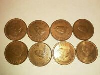 LOT OF 8 AU OR BETTER GREAT BRITAIN FARTHINGS 1942 1956