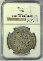 1887-O VAM-2 TOP 100 NGC VF20 MORGAN DOLLAR [INV 1413]