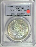 1896-O VAM-19 SHIFTED DATE HIT LIST AOH PCGS EXTRA FINE 45 MORGAN DOLLAR [INV 205]