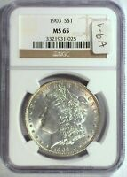 1903 VAM-6A NGC MINT STATE 65 MORGAN DOLLAR [INV 1313]