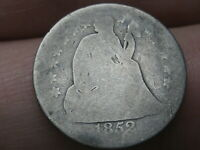 1852 P SEATED LIBERTY SILVER DIME