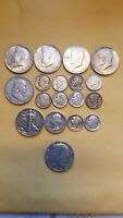 LOT 18 US SILVER COINS 90  SILVER ALMOST 3 1/2 OUNCES   1 IS