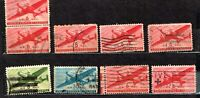 USA    160   STAMPS  OLD NICE COLLECTION OF AIR MAIL  .  LOT