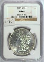 1904-O VAM-35 NGC MINT STATE 64 MORGAN DOLLAR [INV 225] PROOFLIKE FIELDS