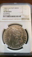 1900 MORGAN SILVER DOLLAR O/CC TOP-100 VAM-12 EXTRA FINE  DETAILS CLEANED