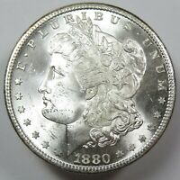 1880-S SILVER MORGAN BU UNC DOLLAR $1 US COIN ITEM 25113