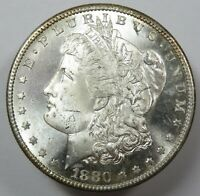 1880-S SILVER MORGAN BU UNC DOLLAR $1 US COIN ITEM 25114